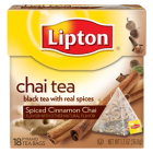 Lipton Spiced Cinnamon Chai Black Tea 28 ct