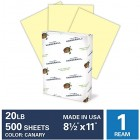 "Hammermill Canary Yellow Copy Paper 20lb 8.5"" x 11"" FSC 500 Sheets / Ream"