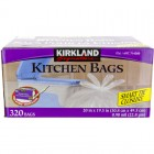 Kirkland Signature Kitchen Garbage Bags - White - 320pk