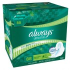 Always Ultra Thin Long Super Pads with Wings 88 CT