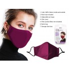 Bodico Washable 3 Ply Face Mask in Wine Red