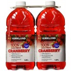 Kirkland Signature Cranberry 100 Percent Juice  2 Pack/ 1.89 L