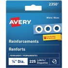 Avery White Reinforcement Labels 225/Pack