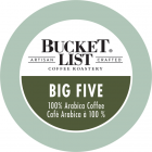 Bucket List Coffee Roastery Big Five K-Cups - 24/Box
