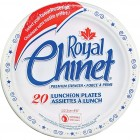 "Royal Chinet Luncheon Plate - Paper - 8.75"" - White - 20 Count"