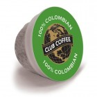 Club Coffee 100% Colombian One Cup Coffee 20/Box