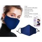 Bodico Washable 3 Ply Face Mask in Blue