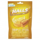Halls Sugar-Free Honey Lemon Cough Drops 30 ct