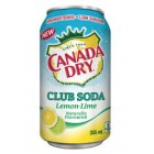 Canada Dry Club Soda Lemon&Lime 12 pk/ 355 mL