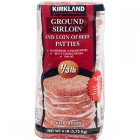 Kirkland Signature Sirloin Beef Burger Patties 18pk