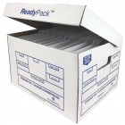 Ready Pack Letter / Legal White Heavy Duty Storage Box