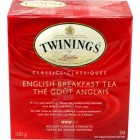 Twinings English Breakfast Black Tea 50pk