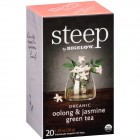 Bigelow Steep Organic Oolong and Jasmine Green Tea - 20/Box