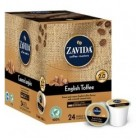Zavida English Toffee Coffee K-Cups 24/Box
