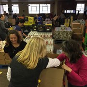 Food Bank hamper packing