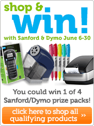 Shop & Win with Sanford & Dymo!